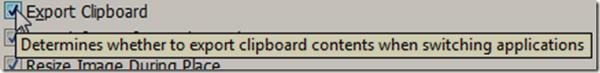 Select Export Clipboard