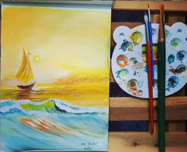 Easy Acrylic Seascape Painting for Beginners
